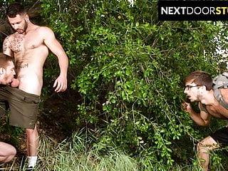 Donte Thick Joins 2 Hunks In Public Park – NextDoorStudios