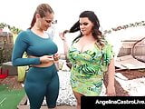 Curvy Cuban Angelina Castro StrapOn Stuffs Thick Ms. Raquel!