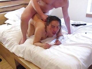 Thai Large bitch BBW Old tough fuck with British Bull