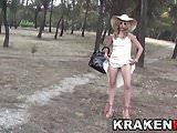 Voyeur Public Nudity Outdoor with a hot milf