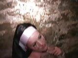 Nun choked spanked Cunt sucked thru sweaty panties Loving it