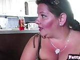 Fat mature fucking between massive tits