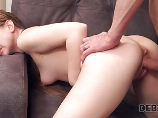 Debt4k. Redhead loves Apple devices so much that is ready