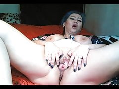 Bluehead milf AimeeParadise: cunt close up and squirt...