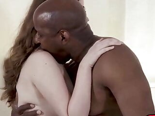 Orgasm from rough interracial hardcore fucking with hot...