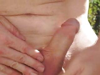 Redhead outdoor masturbation...