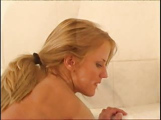 Cynthia Paul taking a bath