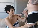 Dutch chubby milf fucking on the counch
