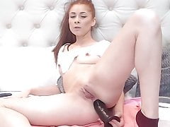 Redhead slut loves to fuck her ass
