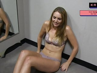 Hot tall blonde sexy babe public sex caught