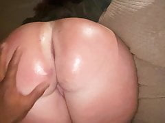 She wanted me to Oil up her big WHITE BOOTY and record it