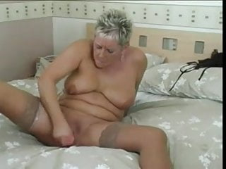 Short hairy blonde mature and her pink cock...