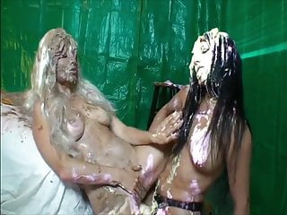 Lesbian messy pie strapon humiliation...