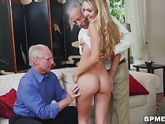 blonde cutie molly mae is shared between some old creepsPorn Videos