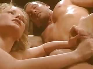 a filmed blonde with An erotically gangbang