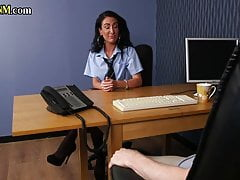 CFNM, British babe pounded at the job interview