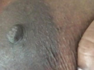 Lazy nipple suck...