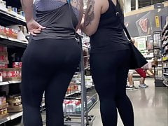 Pawg Of The Month In Witness Thru Leggings-big Fat Ass!