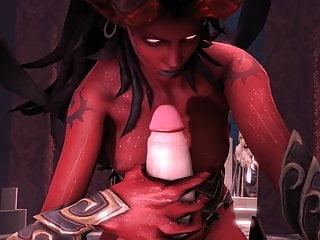 Animation demon woman want dick...