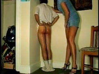 Interracial Shemale Mature Shemale video: Mom's Knee: Caught Drinking with Tanqueray Spanking