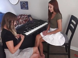 Piano Teacher Foot Worship