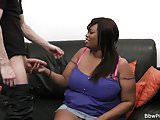 First date with ebony bbw leads to cock riding