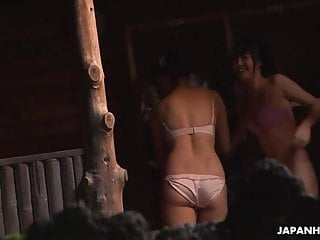 uncensored had a spa  Japanese chicks a local foursome in
