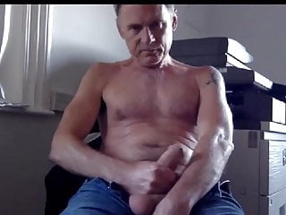 Handsome dad shoots his load