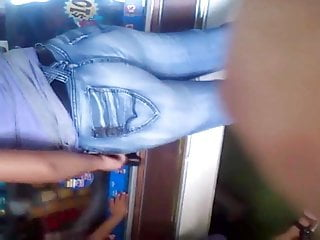 #GIRL IN JEANS BLUE NICE ASS (with face)