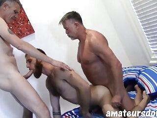 Threesome australian daddies