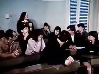 Vintage Blowjob Brunette video: Teacher's penalty
