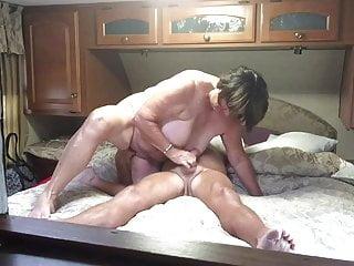 Grandma gives a great blowjob and handjob