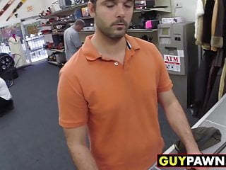 Handsome guy offered a backroom threesome deal by two homos