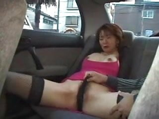 Beauty milf penetrated with vibrator in car...