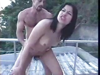 sexiest brunette shemale fucking in a good place