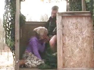 Honey having in a huntingtower...