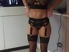 hot as hell gf tries on new lingerie