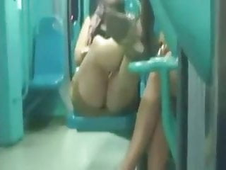 Spy sexy legs in train