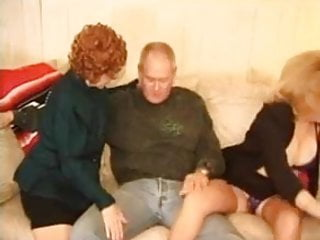Kitty Fox and Granny Threesome