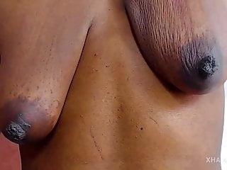 Fantastic black milf boobs...