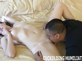 His big cock feels so good in my tight white pussy