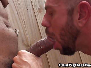 Outdoor therapy for white hunk...