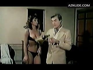 C. Russo in 1980 Italian movie, black satin panties