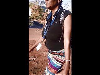 Candid Jugs: Slim Busty Dark skinned Girl 7
