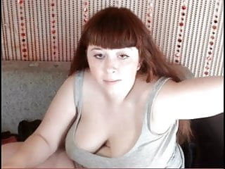 redhead tits almost tear textile apart