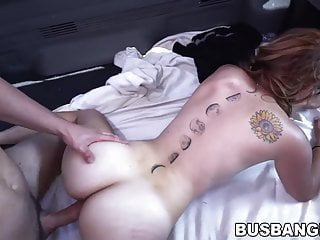 Redhead lady tricked into being pounded hard in a van