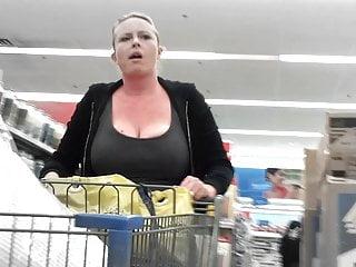 Blonde Big Tits Milf video: Huge Tit Blonde milf at Walmart! Lot of Cleavage! Big boobs