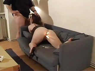Curvy austrian girl fucks with an old guy with weird dick