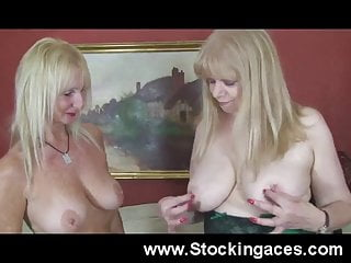 2 Mature Milfs In Sexy Lingerie Together