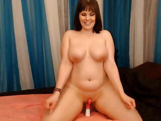 Famous Canadian Milf Ember Blaze cums over and over again